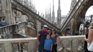 Family picture on the roof of the Duomo!